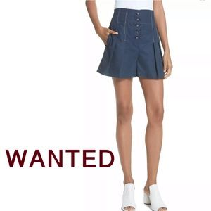 ISO Rebecca Taylor High Waist pleated Shorts